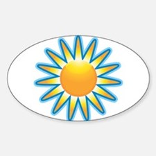 Sunshine Oval Decal