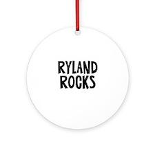 Ryland Rocks Ornament (Round)