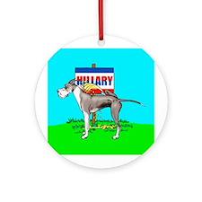Mantle Dane Pi$$ on Hillary Ornament (Round)