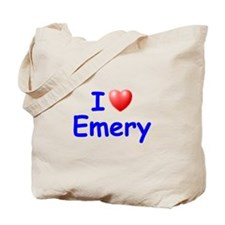 I Love Emery (Blue) Tote Bag