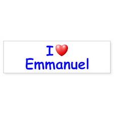 I Love Emmanuel (Blue) Bumper Bumper Sticker