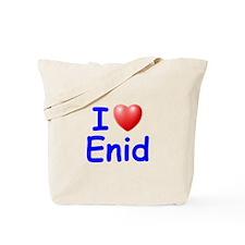 I Love Enid (Blue) Tote Bag