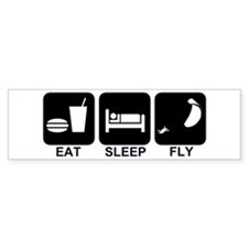 Paraglider Eat Sleep Fly Bumper Bumper Sticker
