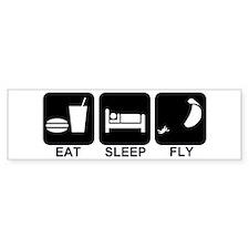 Paraglider Eat Sleep Fly Bumper Car Sticker