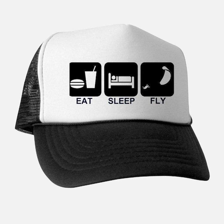 Paraglider Eat Sleep Fly Trucker Hat