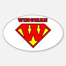 Wingman Oval Decal