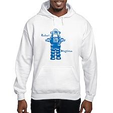 Robot Mayhem Blue Hoodie