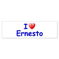 I Love Ernesto (Blue) Bumper Bumper Sticker