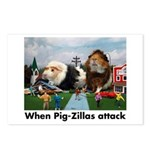 Pig-Zilla Postcards (Package of 8)