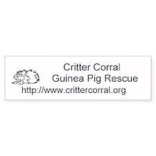 Critter Corral Guinea Pig Rescue Bumper sticker!