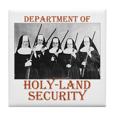Holy-Land Security Tile Coaster