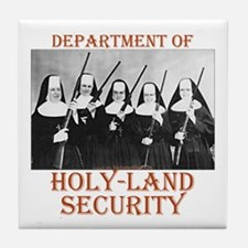 Holy-Land Security Tile Coaster