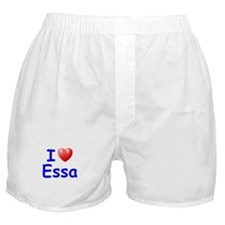 I Love Essa (Blue) Boxer Shorts