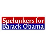 Spelunkers for Obama bumper sticker