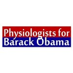 Physiologists for Obama bumper sticker