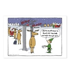 """Sleigh Security"" Postcards (Package of 8)"