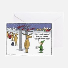 """""""Sleigh Security"""" Greeting Cards (Pk of"""
