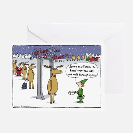Sleigh Security Greeting Card