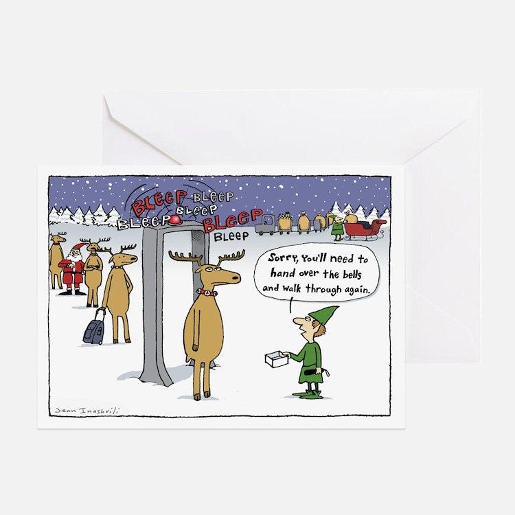 """Sleigh Security"" Greeting Card"