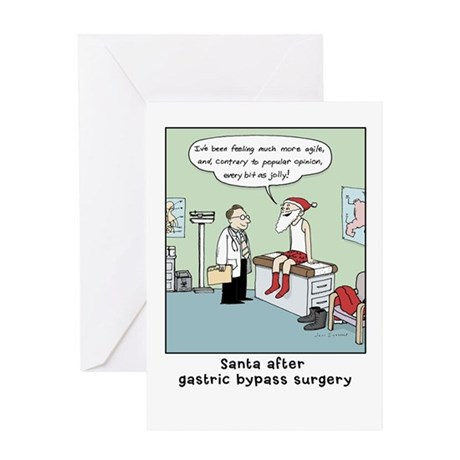 """Santa's Gastric Bypass"" Greeting Card"