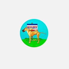 Fawn Dane Pi$$ on Hillary Mini Button