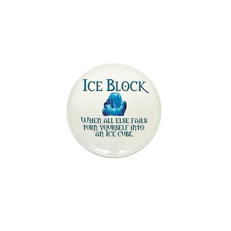 Ice Block Mini Button