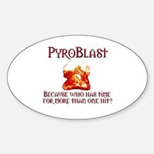 Pyroblast Oval Decal