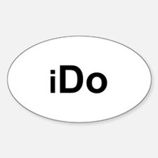 iDo Oval Decal