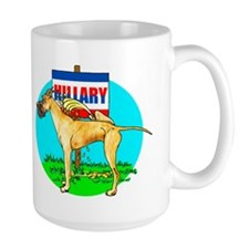 Brindle Dane Pi$$ on Hillary Mug