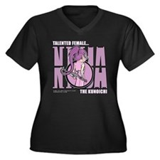 "Purple ""Kunoichi"" Women's Plus Size V-Neck Dark T-"