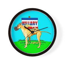 Brindle Dane Pi$$ on Hillary Wall Clock