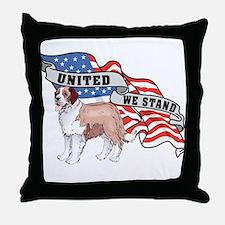 United We Stand St Bernard Throw Pillow