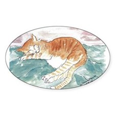 Kitty's P.J. Oval Decal