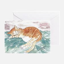 Kitty's P.J. Blank Greeting Card