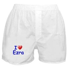 I Love Ezra (Blue) Boxer Shorts