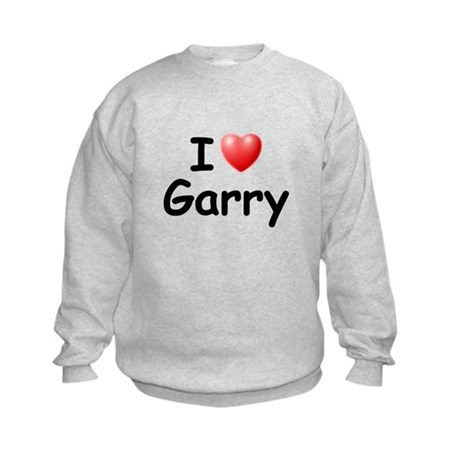 I Love Garry (Black) Kids Sweatshirt