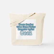Blue Geek Saying Tote Bag