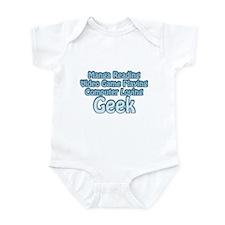 Blue Geek Saying Infant Bodysuit