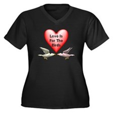 Love Is For The Birds Women's Plus Size V-Neck Dar