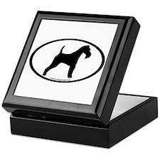 Wire Fox Terrier Oval Keepsake Box