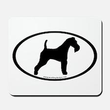 Wire Fox Terrier Oval Mousepad