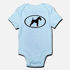 Wire Fox Terrier Oval Infant Bodysuit