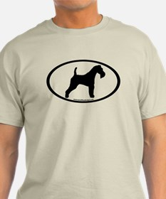 Wire Fox Terrier Oval T-Shirt