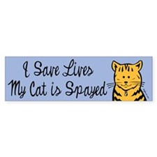My Cat is Spayed Bumper Bumper Sticker