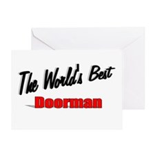"""""""The World's Best Doorman"""" Greeting Card"""