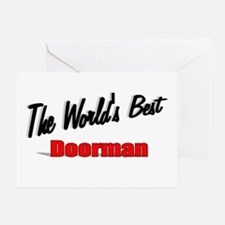 """The World's Best Doorman"" Greeting Card"