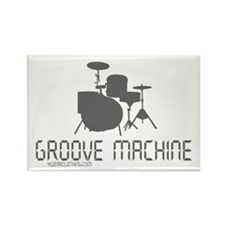 Groove Machine Rectangle Magnet