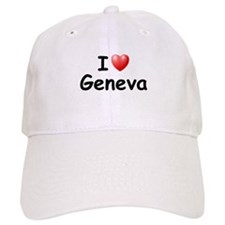I Love Geneva (Black) Baseball Cap