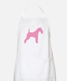Pink Wire Fox Terrier BBQ Apron
