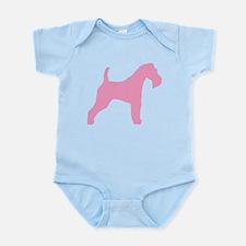 Pink Wire Fox Terrier Infant Bodysuit